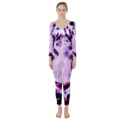 Fractal Wire White Tiger Long Sleeve Catsuit