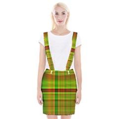 Multicoloured Background Pattern Suspender Skirt by Simbadda