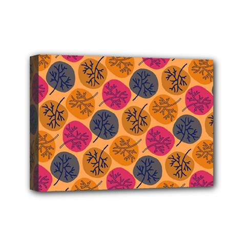 Colorful Trees Background Pattern Mini Canvas 7  X 5  by Simbadda
