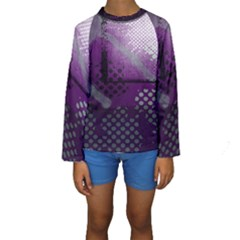 Evil Moon Dark Background With An Abstract Moonlit Landscape Kids  Long Sleeve Swimwear by Simbadda
