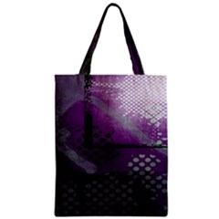 Evil Moon Dark Background With An Abstract Moonlit Landscape Zipper Classic Tote Bag by Simbadda