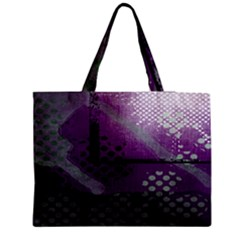 Evil Moon Dark Background With An Abstract Moonlit Landscape Medium Zipper Tote Bag by Simbadda