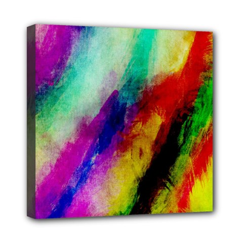 Colorful Abstract Paint Splats Background Mini Canvas 8  X 8  by Simbadda