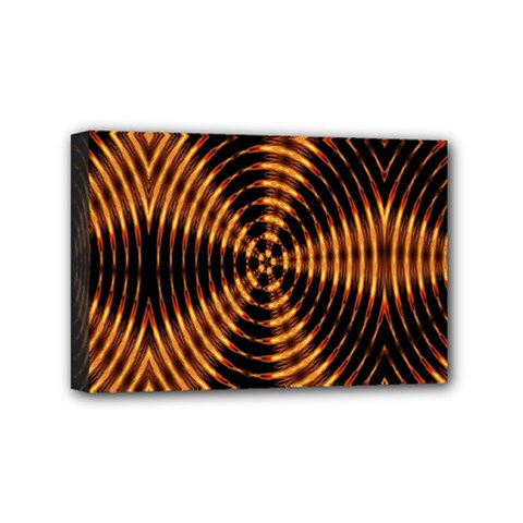 Fractal Pattern Of Fire Color Mini Canvas 6  X 4  by Simbadda