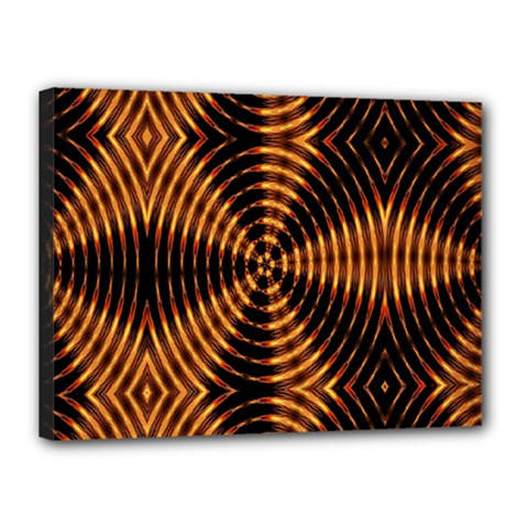 Fractal Pattern Of Fire Color Canvas 16  X 12  by Simbadda