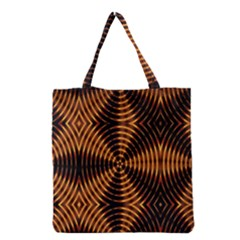 Fractal Pattern Of Fire Color Grocery Tote Bag by Simbadda