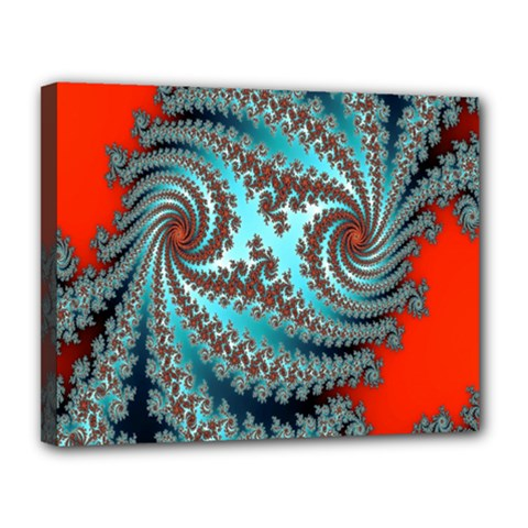 Digital Fractal Pattern Canvas 14  X 11  by Simbadda