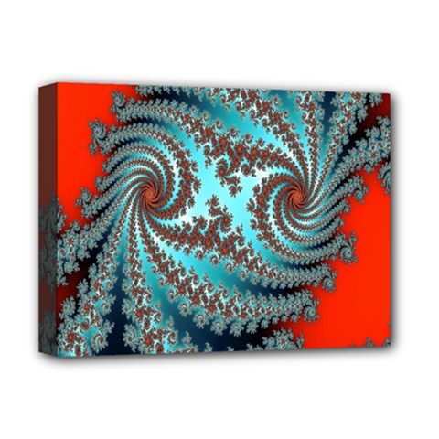 Digital Fractal Pattern Deluxe Canvas 16  X 12   by Simbadda