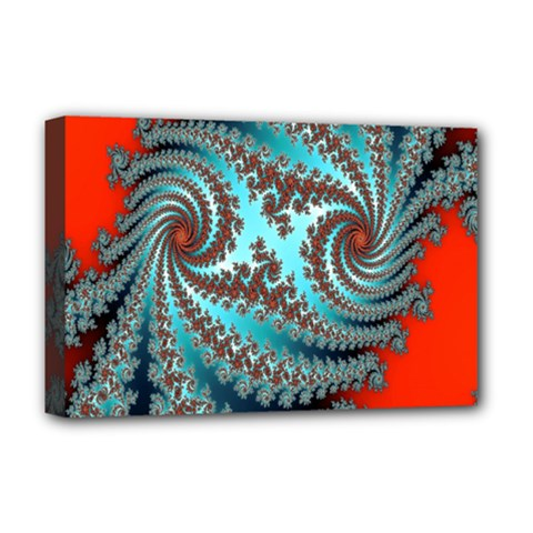 Digital Fractal Pattern Deluxe Canvas 18  X 12   by Simbadda