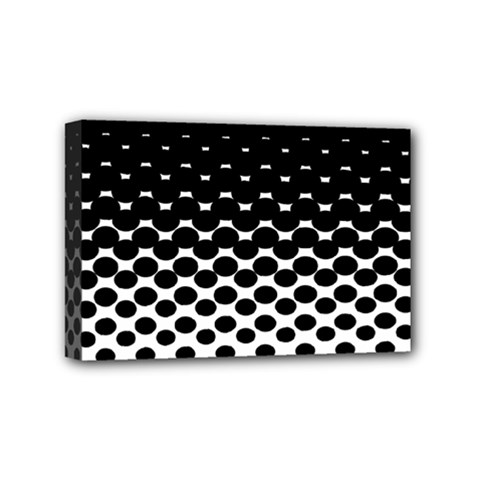 Halftone Gradient Pattern Mini Canvas 6  X 4  by Simbadda