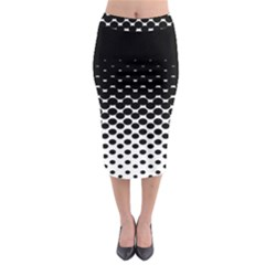 Halftone Gradient Pattern Midi Pencil Skirt by Simbadda