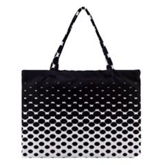Halftone Gradient Pattern Medium Tote Bag by Simbadda