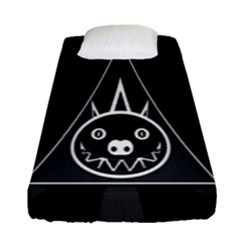 Abstract Pigs Triangle Fitted Sheet (single Size) by Simbadda