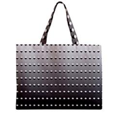 Gradient Oval Pattern Zipper Mini Tote Bag by Simbadda