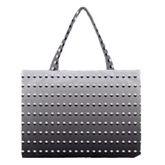 Gradient Oval Pattern Medium Tote Bag by Simbadda