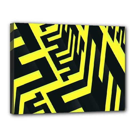 Pattern Abstract Canvas 16  X 12  by Simbadda