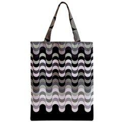 Chevron Wave Triangle Waves Grey Black Zipper Classic Tote Bag by Alisyart