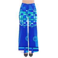 Disco Ball Retina Blue Circle Light Pants by Alisyart