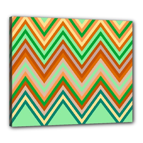 Chevron Wave Color Rainbow Triangle Waves Canvas 24  X 20  by Alisyart