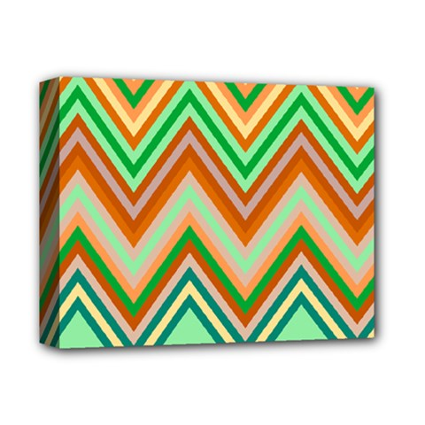 Chevron Wave Color Rainbow Triangle Waves Deluxe Canvas 14  X 11  by Alisyart