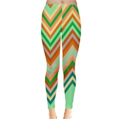 Chevron Wave Color Rainbow Triangle Waves Leggings  by Alisyart