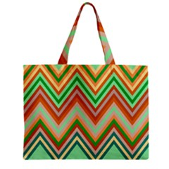 Chevron Wave Color Rainbow Triangle Waves Zipper Mini Tote Bag by Alisyart