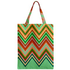 Chevron Wave Color Rainbow Triangle Waves Zipper Classic Tote Bag by Alisyart