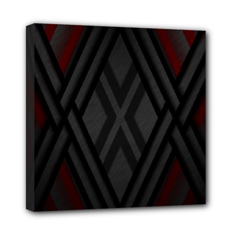 Abstract Dark Simple Red Mini Canvas 8  X 8  by Simbadda