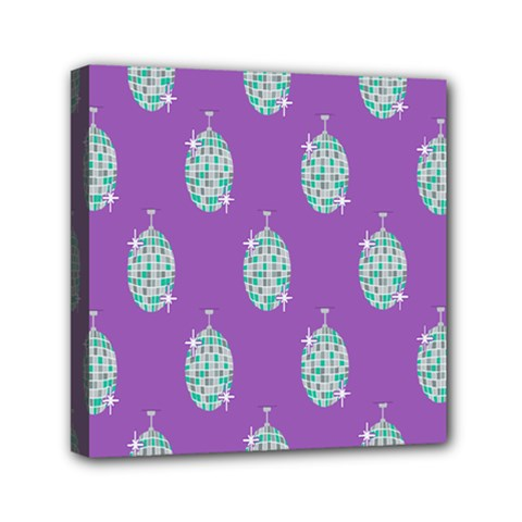 Disco Ball Wallpaper Retina Purple Light Mini Canvas 6  X 6  by Alisyart