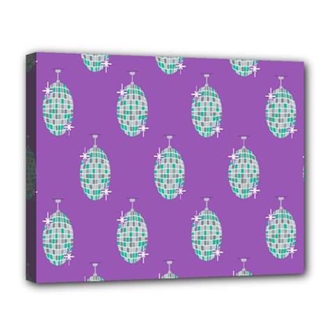 Disco Ball Wallpaper Retina Purple Light Canvas 14  X 11  by Alisyart