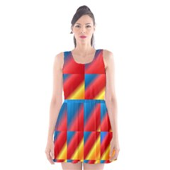 Gradient Map Filter Pack Table Scoop Neck Skater Dress by Simbadda