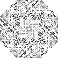 Abstract Minimalistic Text Typography Grayscale Focused Into Newspaper Straight Umbrellas by Simbadda