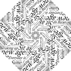 Abstract Minimalistic Text Typography Grayscale Focused Into Newspaper Hook Handle Umbrellas (small) by Simbadda