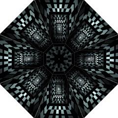 Optical Illusion Square Abstract Geometry Golf Umbrellas by Simbadda