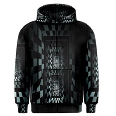 Optical Illusion Square Abstract Geometry Men s Zipper Hoodie by Simbadda