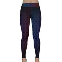 Hexagon Colorful Pattern Gradient Honeycombs Classic Yoga Leggings by Simbadda