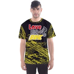 Love Ride Bike Fitness Men s Sport Mesh Tee by PattyVilleDesigns