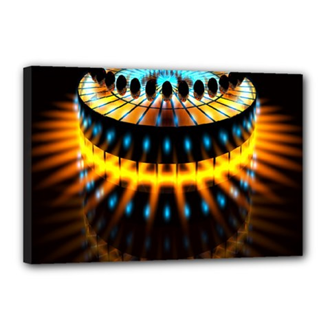 Abstract Led Lights Canvas 18  X 12  by Simbadda