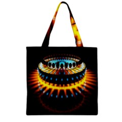 Abstract Led Lights Zipper Grocery Tote Bag by Simbadda