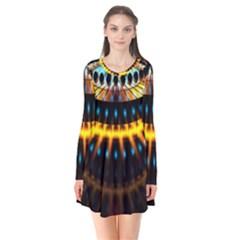 Abstract Led Lights Flare Dress by Simbadda