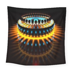 Abstract Led Lights Square Tapestry (large) by Simbadda