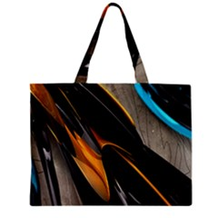 Abstract 3d Zipper Mini Tote Bag