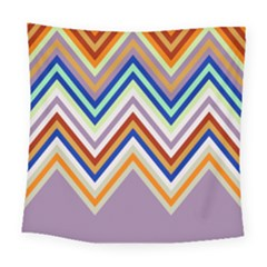 Chevron Wave Color Rainbow Triangle Waves Grey Square Tapestry (large) by Alisyart