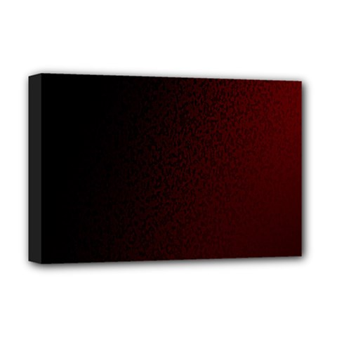 Abstract Dark Simple Red Deluxe Canvas 18  X 12   by Simbadda
