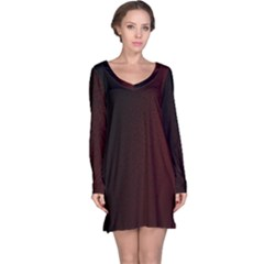 Abstract Dark Simple Red Long Sleeve Nightdress