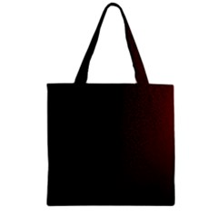 Abstract Dark Simple Red Zipper Grocery Tote Bag