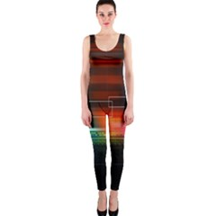 Abstract Binary Onepiece Catsuit by Simbadda