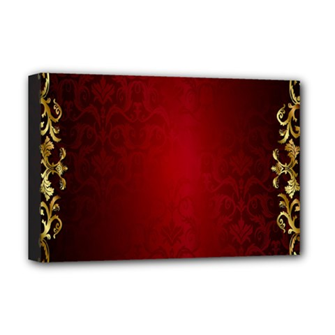3d Red Abstract Pattern Deluxe Canvas 18  X 12