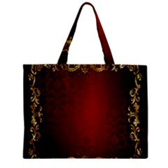 3d Red Abstract Pattern Zipper Mini Tote Bag by Simbadda