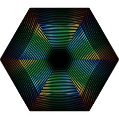 Abstract Multicolor Rainbows Circles Mini Folding Umbrellas by Simbadda